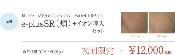 品川院・e-plusSR(頬)+イオン導入セット