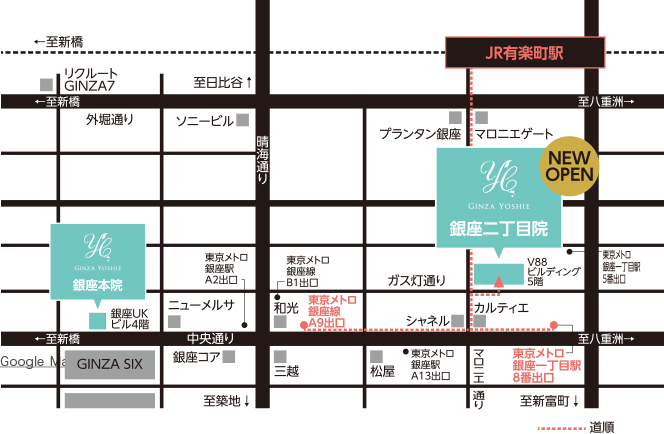 銀座二丁目院マップ